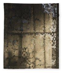 Lace Curtain 1 Fleece Blanket