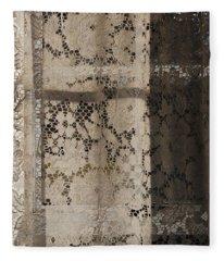 Lace Curtain 2 Fleece Blanket