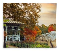 Ladies Pavilion In Autumn Fleece Blanket