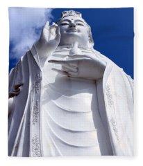 Lady Buddha Vietnam Fleece Blanket