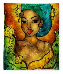 Lady Creole Fleece Blanket