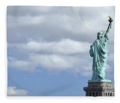 Lady Liberty   1 Fleece Blanket