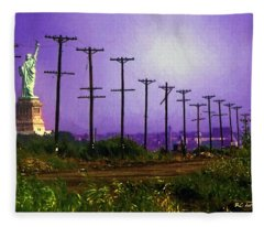 Lady Liberty Lost Fleece Blanket