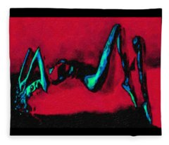 Lady On Red Fleece Blanket