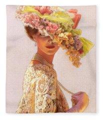 Lady Victoria Victorian Elegance Fleece Blanket