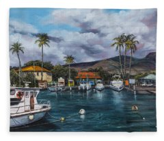 Lahaina Harbor Fleece Blanket