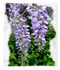 Lake Country Wisteria Fleece Blanket