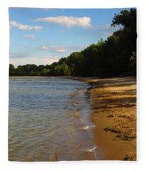 Lake Erie Shore 3 Fleece Blanket