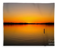 Lake Independence Sunset Fleece Blanket