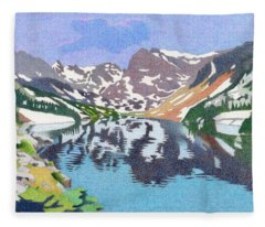 Lake Isabelle Colorado Fleece Blanket