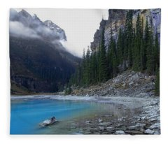 Lake Louise North Shore - Canada Rockies Fleece Blanket