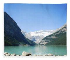 Lake Louise Alberta Canada Fleece Blanket