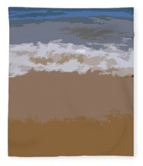 Lake Michigan Shoreline Fleece Blanket
