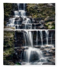 Lake Park Waterfall Fleece Blanket