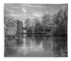 Lake Reflections Mono Fleece Blanket