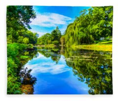 Lake Scene Fleece Blanket