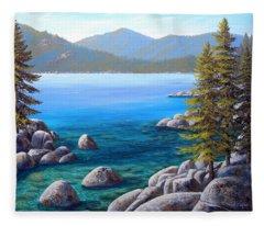 Lake Tahoe Inlet Fleece Blanket