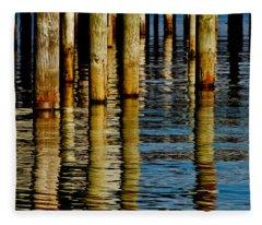 Lake Tahoe Reflection Fleece Blanket