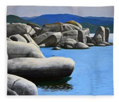 Lake Tahoe Rocky Cove Fleece Blanket