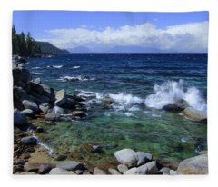 Lake Tahoe Wild  Fleece Blanket