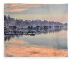 Lake Waccamaw Morning Fleece Blanket