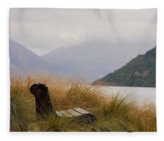 Lake Wakatipu Bench Fleece Blanket