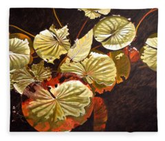 Lake Washington Lily Pad 11 Fleece Blanket