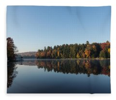 Lakeside Cottage Living - Peaceful Morning Mirror Fleece Blanket