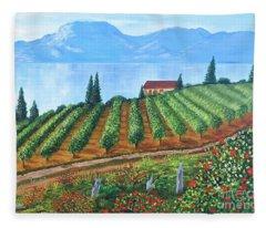 Lakeside Vineyard Fleece Blanket