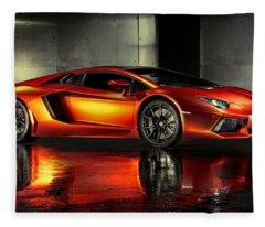 Lamborghini Aventador Fleece Blanket