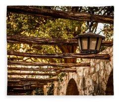 Lamps At The Alamo Fleece Blanket