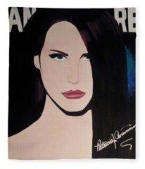 Lana Del Rey Blue Eyes Fleece Blanket