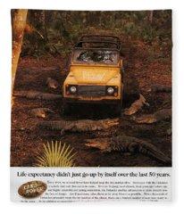 Land Rover Defender 90 Ad Fleece Blanket