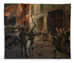 Landrecies, 25th August 1914, 1915 Fleece Blanket