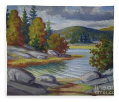 Landscape From Finland Fleece Blanket