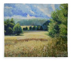 Landscape Near Russian Border Fleece Blanket