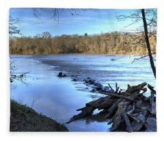 Landsford Canal-1 Fleece Blanket