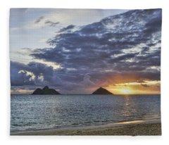 Lanikai Sunrise Fleece Blanket