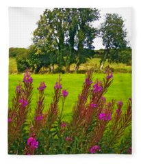Lanna Fireweeds County Clare Ireland Fleece Blanket