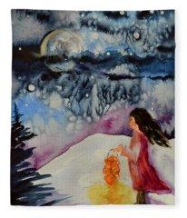 Lantern Festival Fleece Blanket