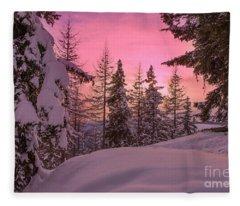 Lapland Sunset Fleece Blanket