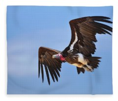 Lappetfaced Vulture Fleece Blanket