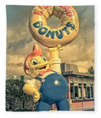 Fleece Blanket featuring the photograph Lard Lad Donuts by Edward Fielding