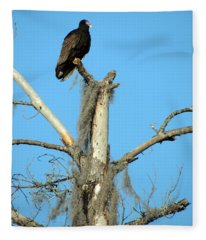 Larry Buzzard Vulture Fleece Blanket