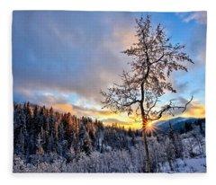 Last Breath Of Day Fleece Blanket