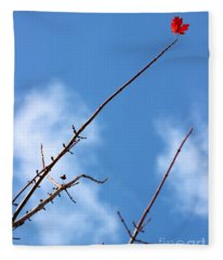 Last Leaf Standing Fleece Blanket
