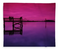 Last Sunset Fleece Blanket