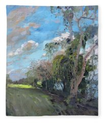 Late Afternoon By Niagara River Fleece Blanket