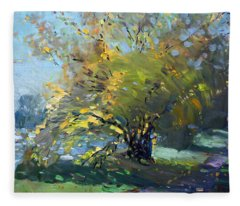 Late Afternoon By The River Fleece Blanket