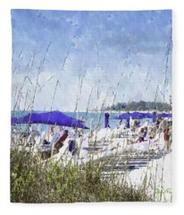 Late Winter Early Spring When Everybody Goes To Florida Fleece Blanket